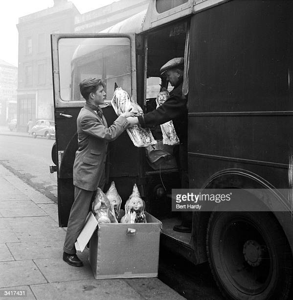 A young man takes delivery of some garden gnomes Original Publication Picture Post 6851 The Best And Worst Of Britain 5 The Young Decent Britons...