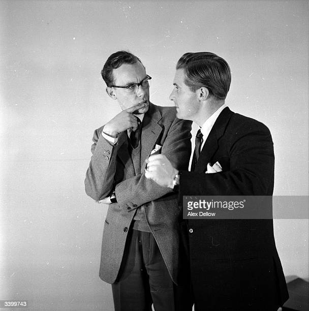 British comedians of stage and screen Eric Morecambe and Ernie Wise Original Publication Picture Post 6849 The Queen's Champions pub 1954