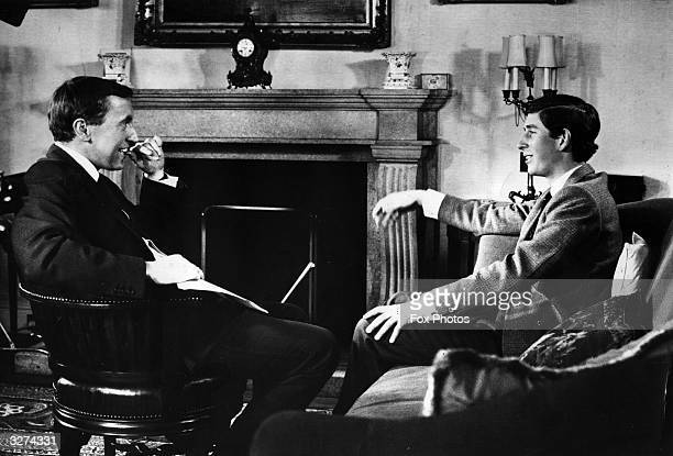 Charles Prince of Wales in an interview with British television presenter David Frost for 'A Prince For Wales' a documentary commemorating his...
