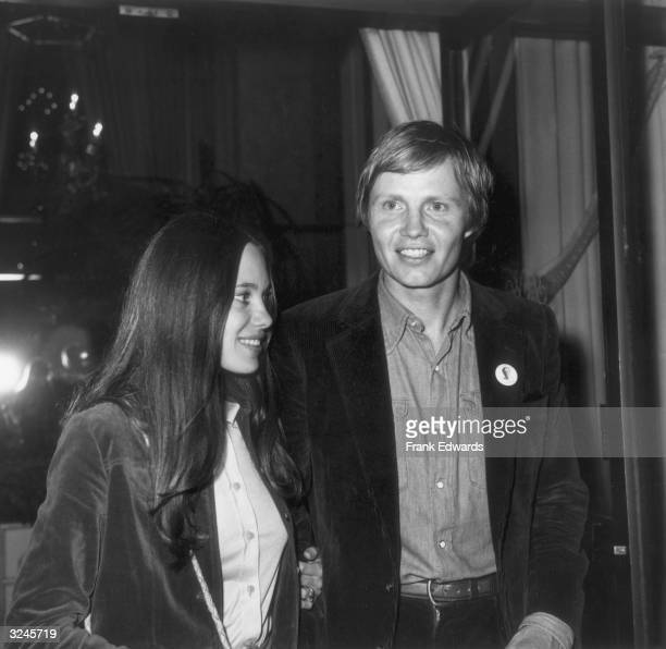 American actor Jon Voight and his wife actor Marcheline Bertrand attend an American Civil Liberties Union tribute to Henry Fonda at the Beverly...