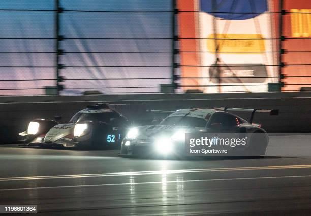 2nd LMP2Class LMP2 PR1/Mathiasen Motorsports driver Simon Trummer Gabriel Aubry Nick Boulle Ben Keating of Oreca 07Gibson and GT Le Mans Porsche GT...