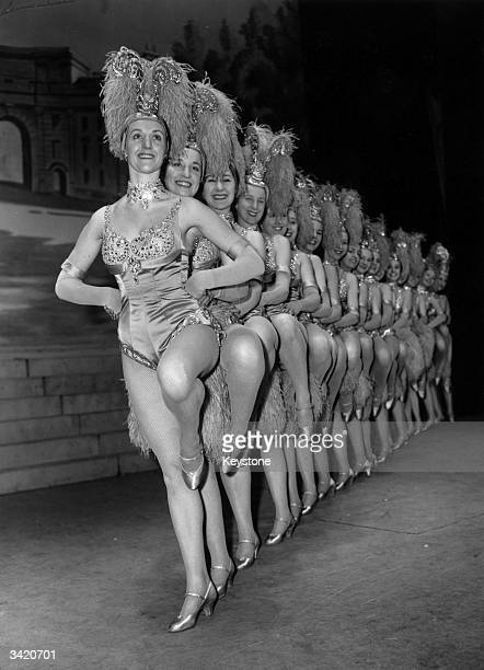 The dance troupe the Tiller Girls at the Victoria Palace Theatre