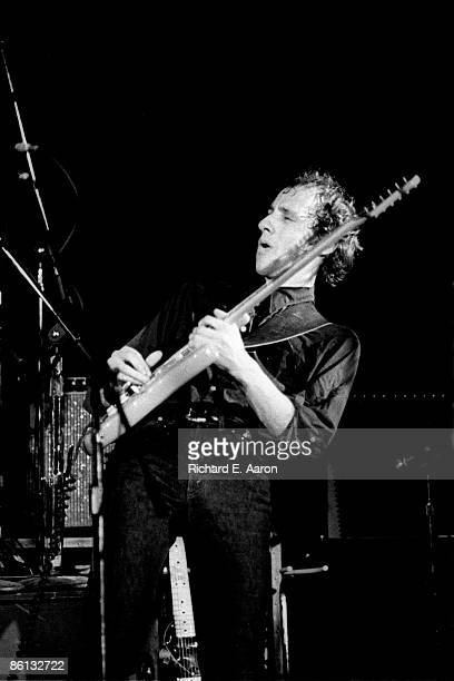 Mark Knopfler from Dire Straits performs live onstage on the Communique tour playing Fender Stratocaster guitar at the Bottom Line in New York on 2nd...