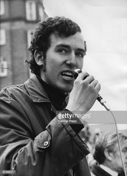 Peter Hain, the leader of the Young Liberals, and leader of 'Stop The Seventy Tour' committee, speaking against apartheid in South Africa at Lord's...
