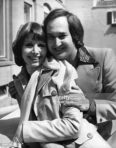 Neil Sedaka with his wife Leba outside the Berkeley Hotel