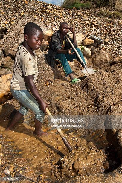 Pictured at work is Samuel Ndusha who supports his entire family with his earnings from the mine In the Democratic Republic of Congo around 1500...