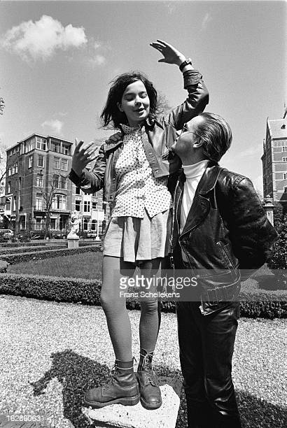 Bjork and Einar Orn from Icelandic group The Sugarcubes posed in Amsterdam Netherlands on 2nd May 1988