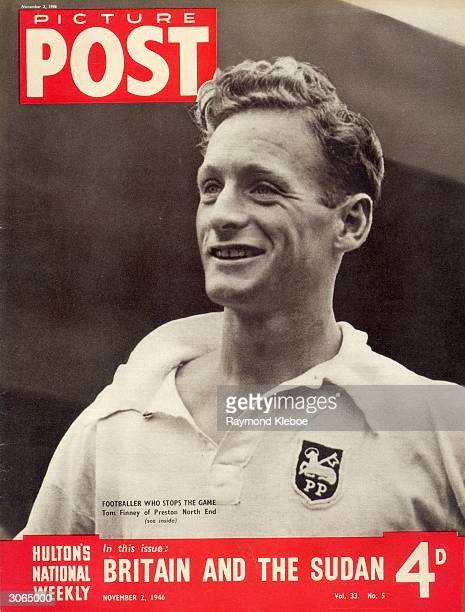 24yearold footballer Tom Finney of Preston North End who is being hailed as the year's most interesting player The headline beneath reads 'Britain...