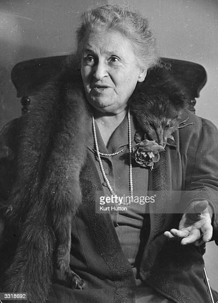 Italian educationist Maria Montessori Original Publication Picture Post 4244 The Woman Who Made School Fun pub 1946