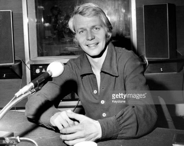 Film TV star and soul singer David Soul sits in a radio studio to broadcast an interview