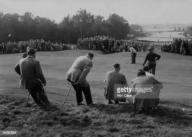 A Ryder Cup match between England and the United States at Wentworth Surrey