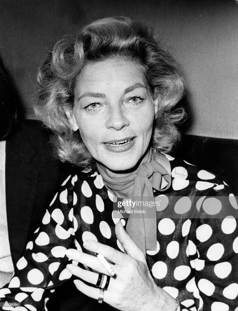 American film actress Lauren Bacall.