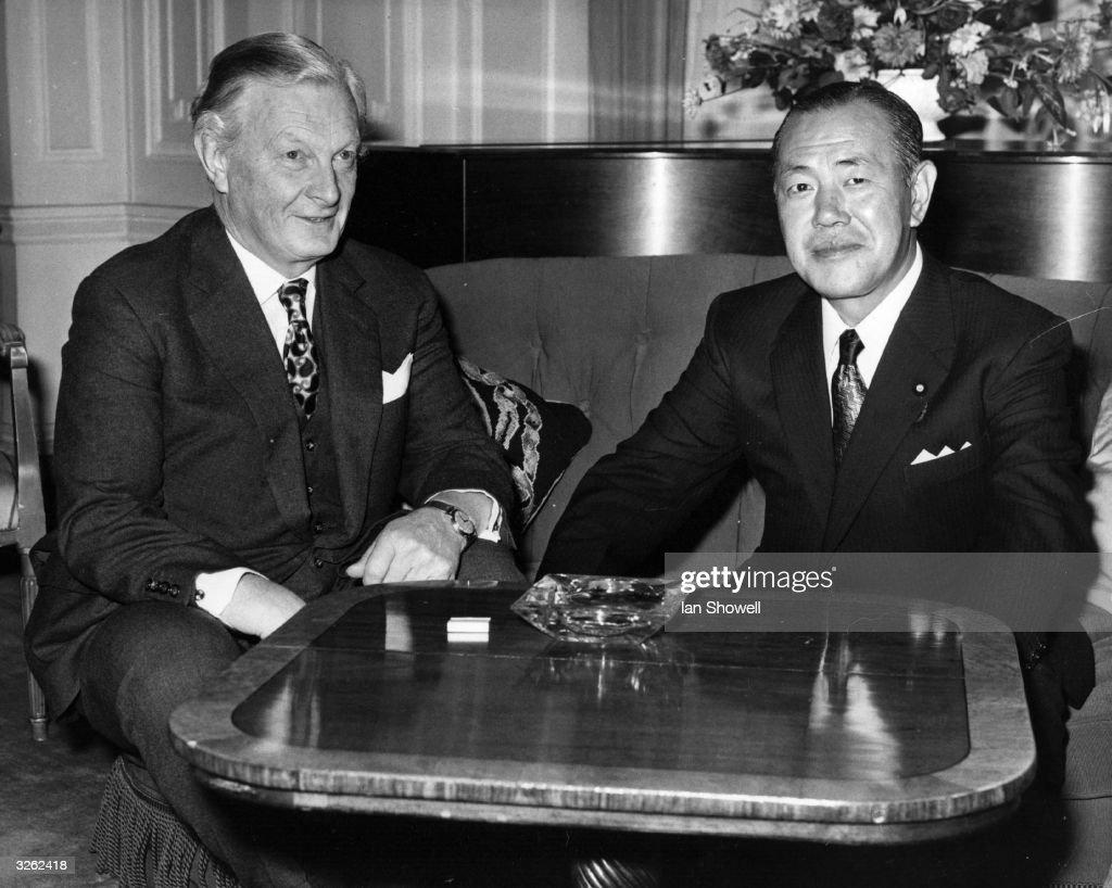 Mr John Davies, the Chancellor of the Duchy of Lancaster meets Japanese Prime Minister Mr Kakuei Tanaka.