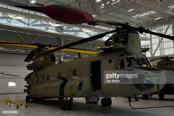 2nd of the 135th Aviation Regiment General Support Aviation Battalion CH47 Chinook at Buckley Air Force Base in Aurora January 21 2015 Aurora CO