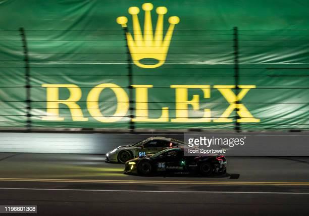 2nd Pace Winner GT Le Mans Porsche GT Team driver Nick Tandy Frederic Makowiecki Matt Campbell of Porsche 911 RSR19 during the Rolex 24 IMSA Race on...