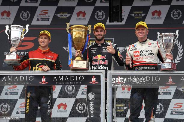 2nd place David Reynolds driver of the Erebus Penrite Racing Holden Commodore ZB 1st palce Shane Van Gisbergen driver of the Red Bull Holden Racing...
