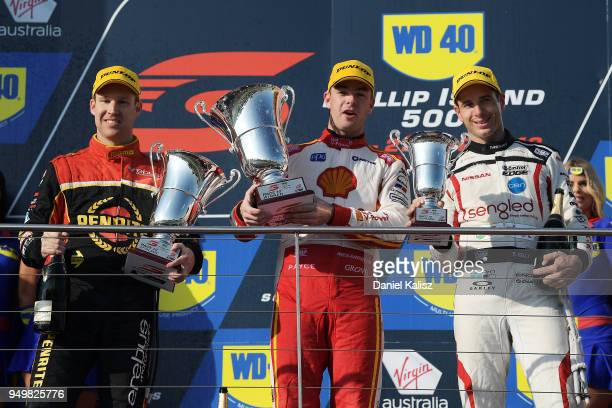 2nd place David Reynolds driver of the Erebus Penrite Racing Holden Commodore ZB 1st place Scott McLaughlin driver of the Shell VPower Racing Team...