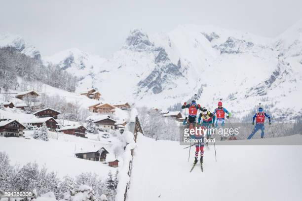 2nd place Johannes Thingnes Boe of Norway 1st place Martin Fourcade of France 25th place Simon Schempp of Germany 8th place Jakov Fak of Slovakia and...