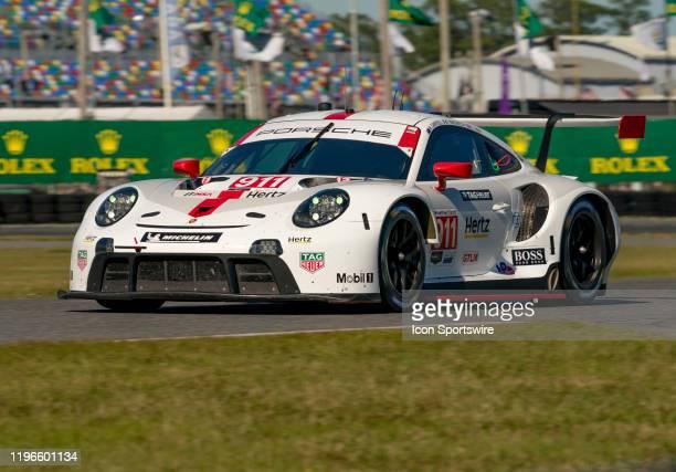 2nd Plase Winner GT Le Mans Porsche GT Team driver Earl Bamber Laurens Vanthoor Mathieu Jaminet of Porsche 911 RSR19 during the Rolex 24 IMSA Race on...