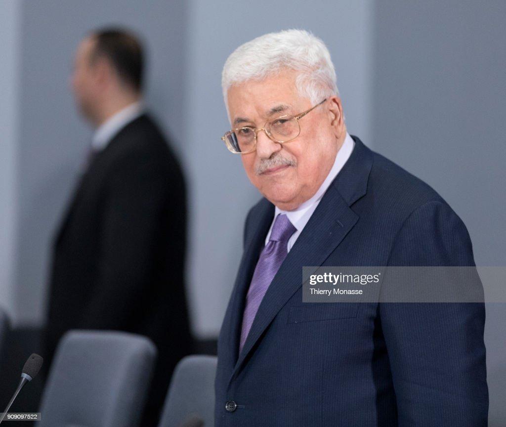 Palestinian President Mahmoud Abbas visits the EU