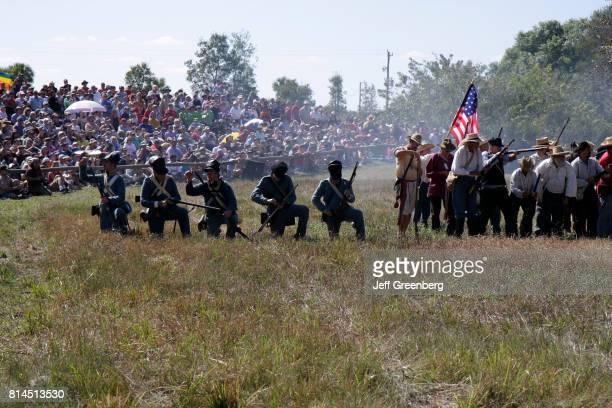 A 2nd Second Seminole War Reenactment at the Big Cypress Shootout event at Billie Swamp Safari