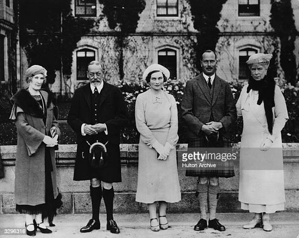 A royal gathering at Balmoral Castle in Aberdeenshire on the occasion of the Duke of Gloucester's engagement to Lady Alice Original Publication From...