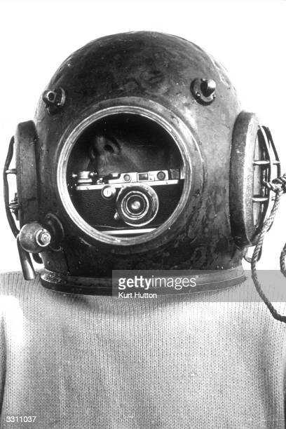 A portrait of the diver Lawson Smith who photographed the submarine Thetis after it sunk during tests A Leica camera was tied inside his helmet so...