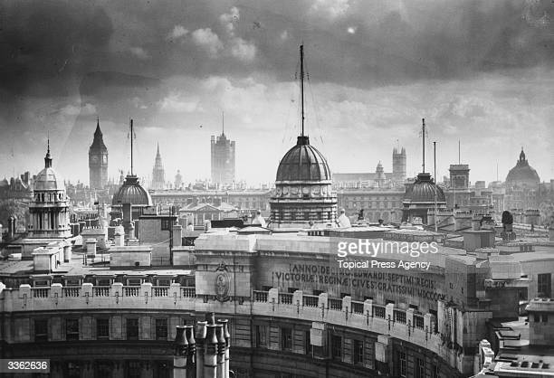 South central London's skyline from Admiralty Arch