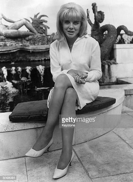 Actress Sue Lyon who played the part of Lolita in the film of the same name at the Dorchester
