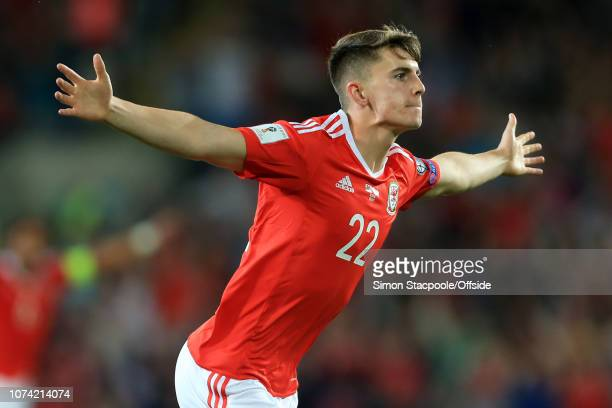 2nd September 2017 2018 FIFA World Cup Qualifying Wales v Austria Ben Woodburn of Wales celebrates after scoring their 1st goal