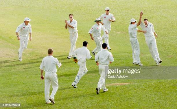 2nd TEST 1st DAY 19/3/2004 AT THE QUEENS PARK OVAL PORT OF SPAIN TRINIDAD HARMONSON AFTER TAKING THE WICKET OF SHARWAN.