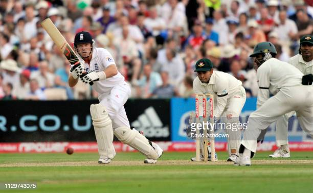 2nd TEST AT OLD TRAFFORD 1st DAY 4/6/2010. IAN BELL OFF RAZZAK.