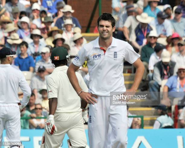 2nd TEST AT OLD TRAFFORD 2nd DAY 5/6/2010. JAMES ANDERSON.