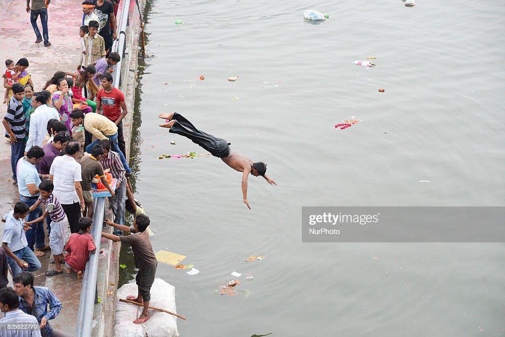 Ahmedabad - Ganesh Chaturthi festival ( The deity of prosperity ) : News Photo