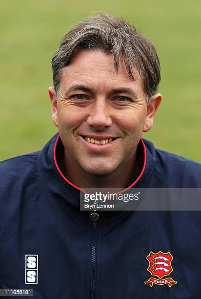 2nd XI Coach Chris Silverwood of Essex CCC poses for a portrait during the Essex CCC photocall held at The Ford County Ground on April 5 2011 in...