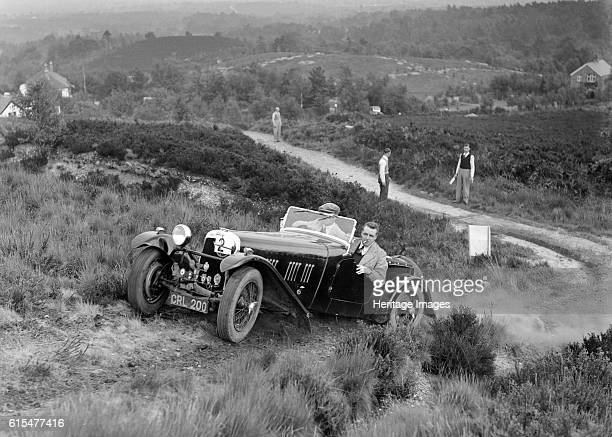 HRG 2seater sports of WP Uglow taking part in the NWLMC Lawrence Cup Trial 1937 HRG 2 seater sports 1937 1496 cc Vehicle Reg No CRL200 Event Entry No...