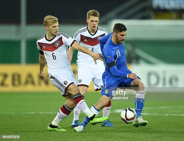 Fussball U21 LänderspielDeutschland Italien 22vli Johannes Geis Matthias Ginter Marcello Trotta