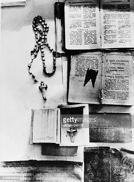 2World War Soviet Union Katyn massacre 1940 exhumation of corpses by a german guided investigation commission prayerbook and other personal...