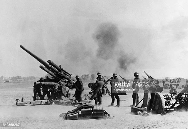 2ww campaign in the west 1940 German heavy AA gun battery in combat