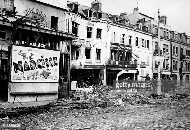 2wwcampaign in the west 1005 Destructions in a street of Amiens about 25June 1940