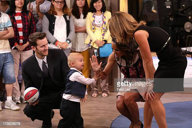 AMERICA 2yearold Titus Ashby shares his basketball skills on Good Morning America 7/11/13 airing on the Walt Disney Television via Getty Images...