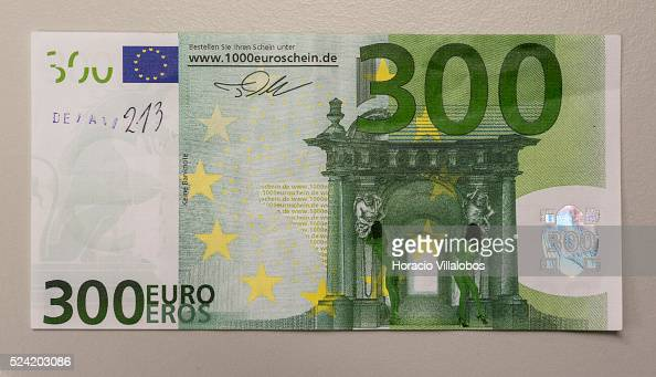 A 300 Euro False Banknote Non Existing Denomination Shown At The News Photo Getty Images