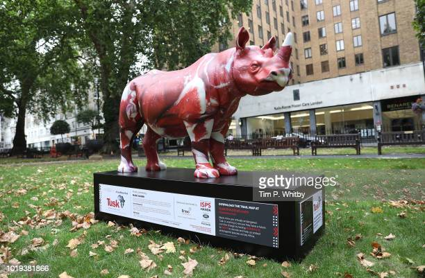 A 300kg rhino sculpture by by Zhang Huan hits the streets today as part of the Tusk Rhino Trail in London a Citywide installation to raise funds for...