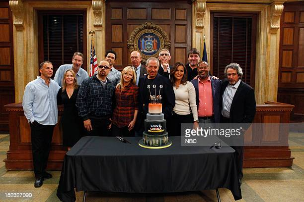 UNIT 300th Episode Celebration Pictured CoExecutive Producer Michael Smith Executive Producer Julie Martin CoExecutive Producer Ed Zuckerman IceT as...