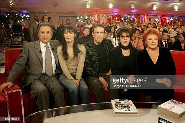 300Th Of The Tv Show Vivement Dimanche By Michel Drucker On March 2006 In Paris France Here Michel Drucker Bambou Alain Chamfort Dani Regine