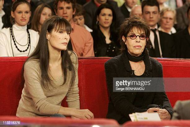 300Th Of The Tv Show Vivement Dimanche By Michel Drucker On March 2006 In Paris France Here Bambou Et Dani