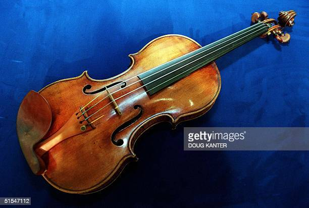A 300yearold violin by Antonio Stradivari is seen at the Christie's auction house in New York 01 May 2000 The violin known as 'The Taft' was crafted...