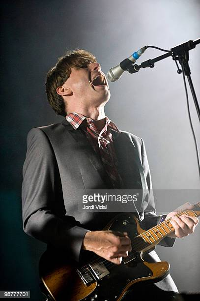 Alex Kapranos of Franz Ferdinand performs on stage during day one of Estrella SOS Levante Festival on April 30 2010 in Murcia Spain