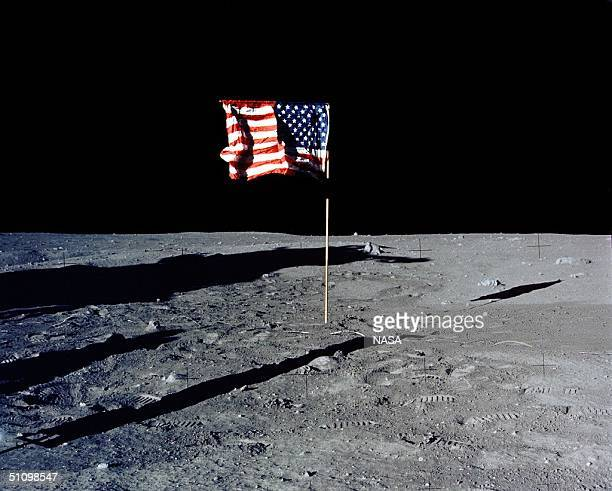 30Th Anniversary Of Apollo 11 Landing On The Moon The Flag Of The United States Stands Alone On The Surface Of The Moon