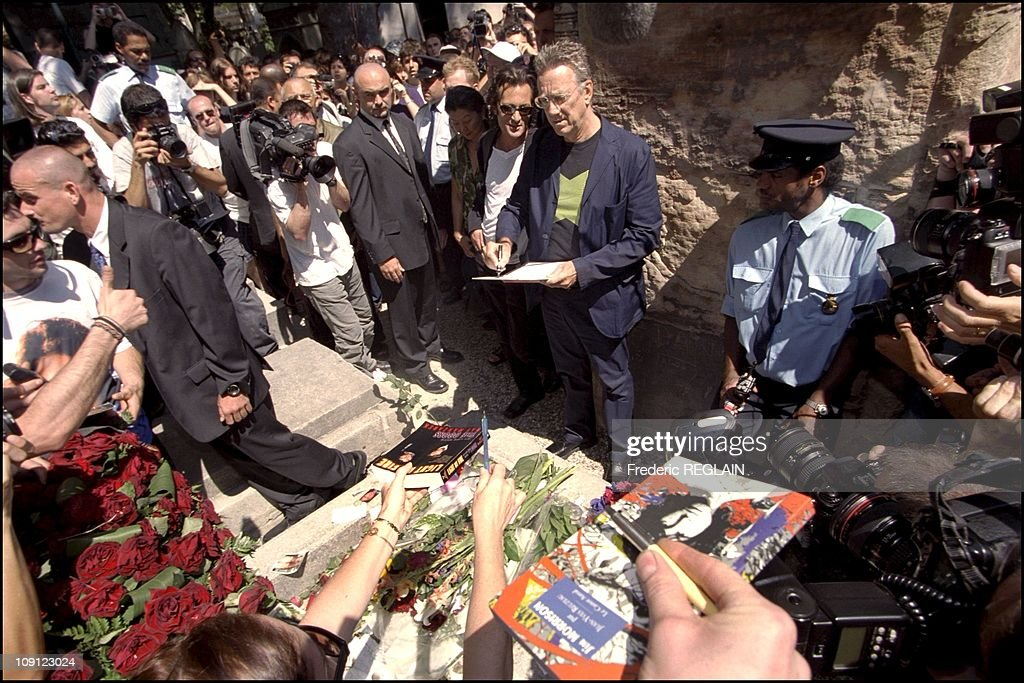 30Th Anniversary Of Jim Morrison Death In Paris On March 7Th, 2001 In Paris, France. : News Photo